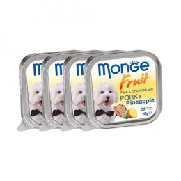 Monge Fruit Pate and Chunkies with Pork & Pineapple (100 g. x 4)