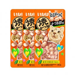 CIAO Cat Snack Soft bite Tuna Chicken Fillet with Maguro 30 g. (x 3 Packs)