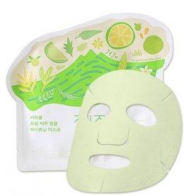 Ciracle from jeju Citrus sudachi whitening mask