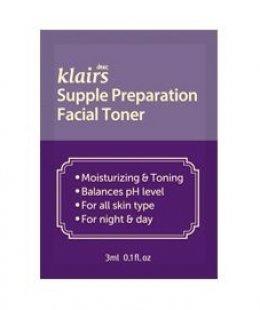 Klairs Supple preparation facial toner 3ml*2ea