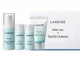 laneige white dew trial kit 4items