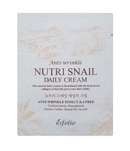 esfolio anti wrinkle Nutri snail daily cream 3g*2ea
