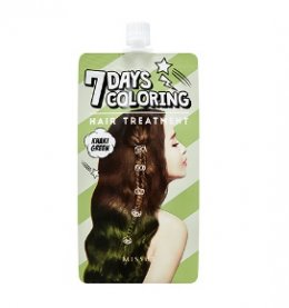Missha 7Days coloring hair treatment #KHAKI Green