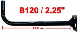 เสาตั้งจาน C-Band แบบยาว 120cm. ฐาน4เหลี่ยม