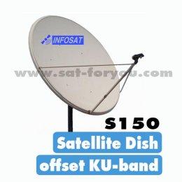 หน้าจานดาวเทียม INFOSAT Offset 150cm.