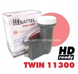 LNBF-KU Band HISATTEL 11300 TWIN HD