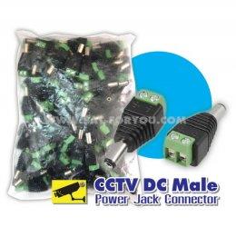 JACK DC ตัวผู้ ต่อด้านตัวกล้อง แพ็คถุง100
