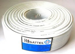 สายRG6 HISATTEL 90% 100ม. สีขาว