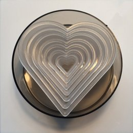 YT2063 ชุดกดคุ้กกี้ หัวใจ ใส 8 ชิ้น