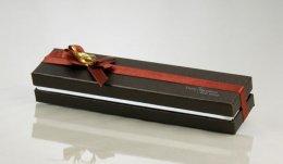 Y-023-2 กล่องน้ำตาล ลาย Dainty Happiness 6 ช่อง 25x4x4 cm
