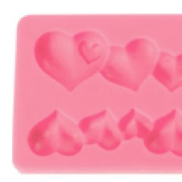 ST06 Pavoni SILICONE MOULD: HEARTS