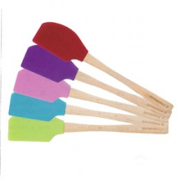 Pavoni WOOD HANDLE SPATULA: RED