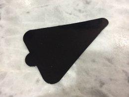 PG-010-Black แผ่นรองเค้กสามเหลี่ยม ดำ 7.8*11.8 cm@100