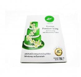 น้ำตาลคลุมเค้ก ตราลิน สีเขียว 750 กรัม