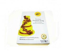 น้ำตาลคลุมเค้ก ตราลิน สีเหลือง 750 กรัม