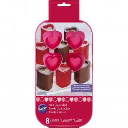 2105-3120 Wilton 8 CAV HEART SHOT GLASS MOLD