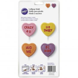 2115-3806 Wilton CANDY HEART LOLLI MOLD