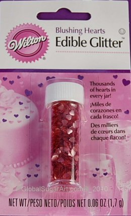 703-205 Wilton PINK HEARTS EDIBLE ACCENTS