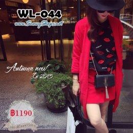 [*พร้อมส่ง F] [WL-044] Knit เสื้อโค้ทสูทสีแดงใส่คลุมกันหนาว สวยมากๆค่ะ