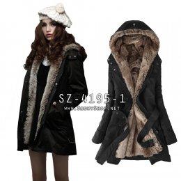 [[*พร้อมส่ง S,M,L,XL,2XL,3XL]] [SZ-4195-1] SZ++เสื้อโค้ทกันหนาว++เสื้อโค้ทกันหนาวสีดำ ซับขนเฟอร์นุ่มด้านใส่กันหนาวได้อย่างดี