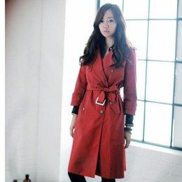 [[*พร้อมส่งL ]] [SZ-3266] SZ++เสื้อโค้ท++เสื้อโค้ทกันหนาวสีแดงผ้าไหมญี่ปุ่นซับในอย่างดี พร้อมผ้าผูกเอว