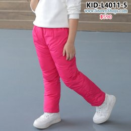 [พร้อมส่ง 100,110] [KID-L4011-5] กางเกงกันหนาวเด็กใส่เล่นหิมะสีชมพู ผ้ากันหนาวกันหนาวอย่างดี ใส่ได้ทั้งเด็กชายและเด็กหญิง