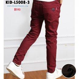 [พร้อมส่ง 110,120,130,140,150,160] [KID-L5008-3] กางเกงลองจอนกันหนาวเด็กชายสีแดง ซับขนวูลกันหนาวด้านใน เอวยืด ใส่กันหนาวติดลบได้ค่ะ