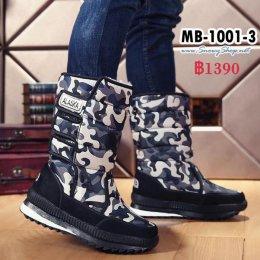 [พร้อมส่ง 39 40 41] [Boots] [MB-1001-3] Chove รองเท้าบู๊ทชายลายทหารสีน้ำเงิน ผ้าร่มบุขนด้านในใส่กันหนาวลุยหิมะได้ไม่เปียกค่ะ