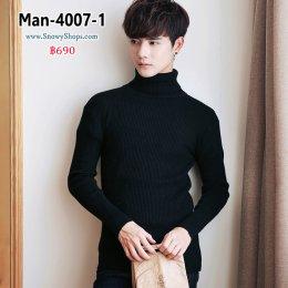[พร้อมส่ง M,L,XL,2XL] [Man-4007-1] เสื้อโค้ทกันหนาวชายสีดำ ด้านในซับขนเป็ด มีหมวกฮู้ด และกระเป๋าสองข้าง ใส่กันหนาวติดลบได้