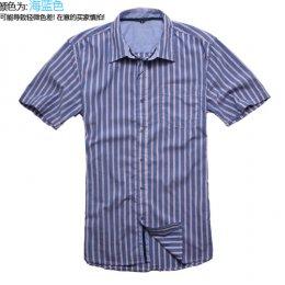 [[พร้อมส่ง P,G]] [TS-003] TS ++เสื้อ++ เสื้อเชิ้ตแขนสั้นลายทางสีแดง