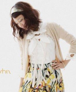 [[*พร้อมส่ง F]] [SZ-1259] SZ++เสื้อกันหนาว++เสื้อกันหนาวขนนุ่มสีชมพูแขนยาว คอผูกโบว์เชือก พร้อมเข็มกลัดดอกไม้ น่ารักค่ะ