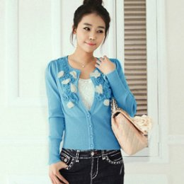 [[*พร้อมส่ง M ]] [SZ-3701] Shezyy++เสื้อคลุม++เสื้อคลุมสีฟ้า