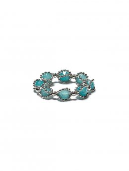 Lace Blue Quartz Stone Cage Ring