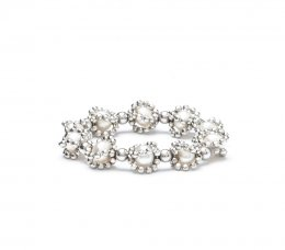 Lace Pearl Cage Ring