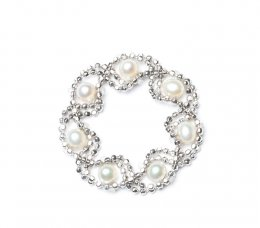 Wave Pearl Ring