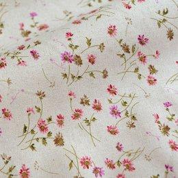 ผ้า cotton linen ลายดอก ขนาด 1/4 m. (50*55 ซม.)