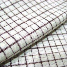 ผ้าทอ American Country ลายสก๊อตขาวตารางแดง ขนาด 1/8 m.(25*55 cm.)