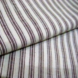 ผ้าทอ American Country ลายทางโทนแดง ขนาด 1/8 m.(25*55 cm.)