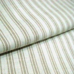 ผ้าทอ American Country ลายทางโทนครีม ขนาด 1/8 m.(25*55 cm.)