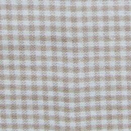 ผ้า cotton American Country ลายสก๊อตโทนเบจ ขนาด 1/8 เมตร (25*55 ซม.)