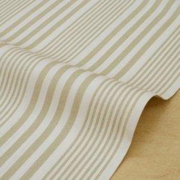 ผ้า cotton ญี่ปุ่น ลายทางเบจ ของ Yu\'s Palette ขนาด 1/8 เมตร (25*55 ซม.)