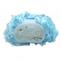 ไหมนำเข้า Feather สีฟ้าเงา