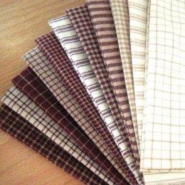 ผ้าทอ American Country Set 11 ชิ้น (แต่ละชิ้นขนาด 25*27.5 cm.หรือ 1/16 m.)