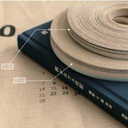 เทปผ้า Cotton linen  โทนน้ำเงิน มีให้เลือก 2 ขนาด 10,15 mm.หลาละ