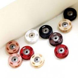 กระดุมแป๊กขอบพลาสติก ขนาด 1.6 cm. อันละ (เหลือแต่สีอมชมพู , แดง)