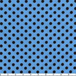 ผ้าญี่ปุ่นลายจุด 3 mm.พื้นฟ้าจุดน้ำตาล  Color Basic By lecien  ขนาด 1/8 m.(25*55 cm.)