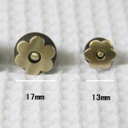 กระดุมแม่เหล็กรูปดอกไม้ ขนาด 1.7 ซม.