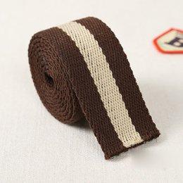 สายกระเป๋า cotton น้ำตาลเส้นใหญ่ กว้าง 3 cm. ราคาหลาละ  (90 cm.)