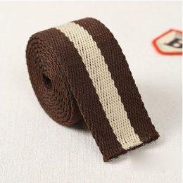 สายกระเป๋า cotton น้ำตาล กว้าง 2.5 cm. ราคาหลาละ (90 cm.)