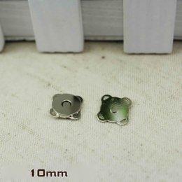 กระดุมแม่เหล็กมีช่องสำหรับเย็บติด ขนาด 1 cm.ราคาตัวละ